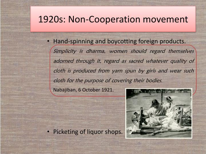 Non-Cooperation Movement | Causes & Effects | Short Note | PDF