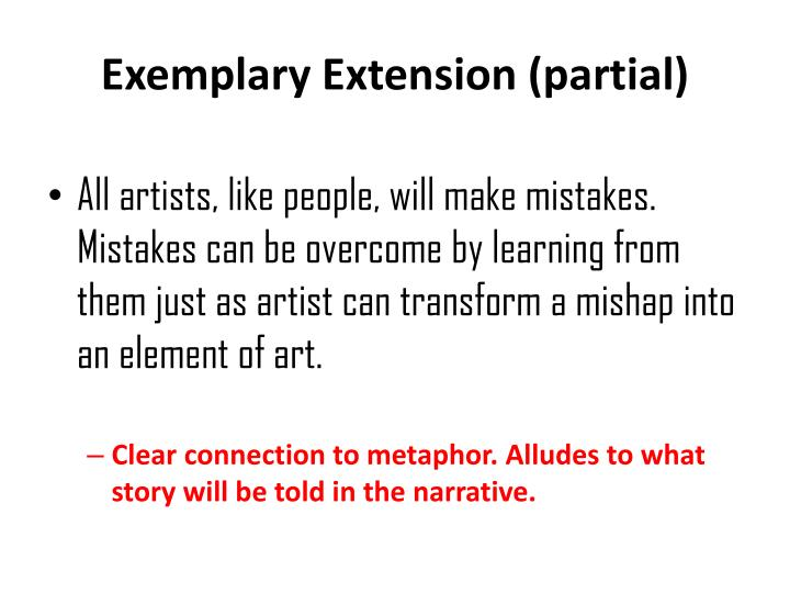 Exemplary Extension (partial)