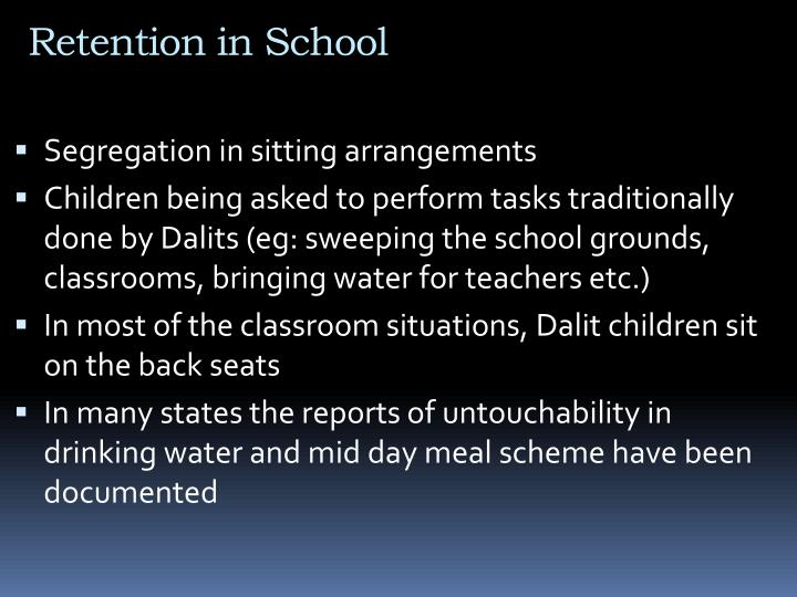 Retention in School