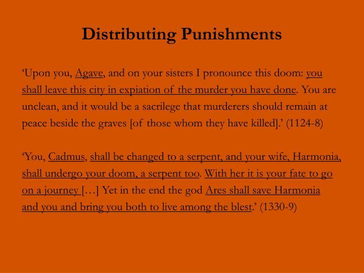 Distributing Punishments