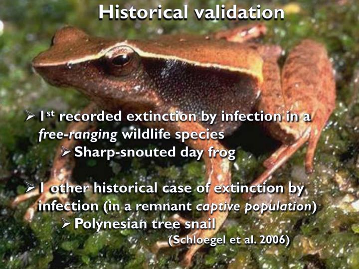 Historical validation