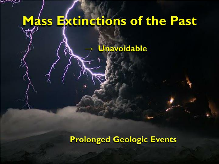 Mass extinctions of the past