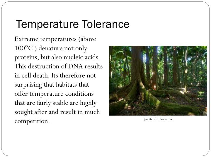 Temperature Tolerance