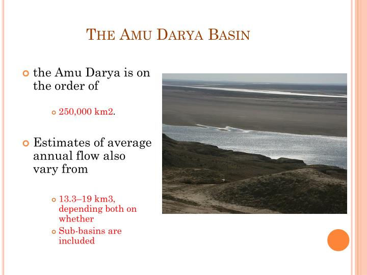 The Amu Darya Basin