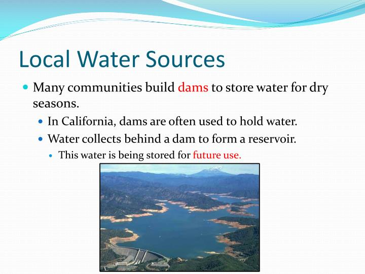 Local Water Sources