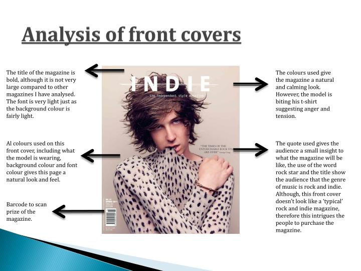 Analysis of front covers