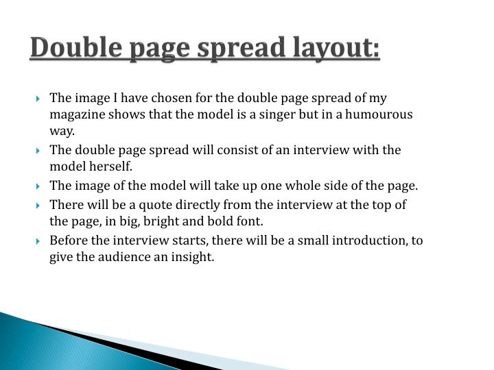 Double page spread layout: