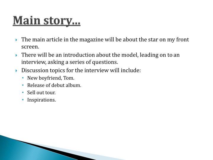 Main story…