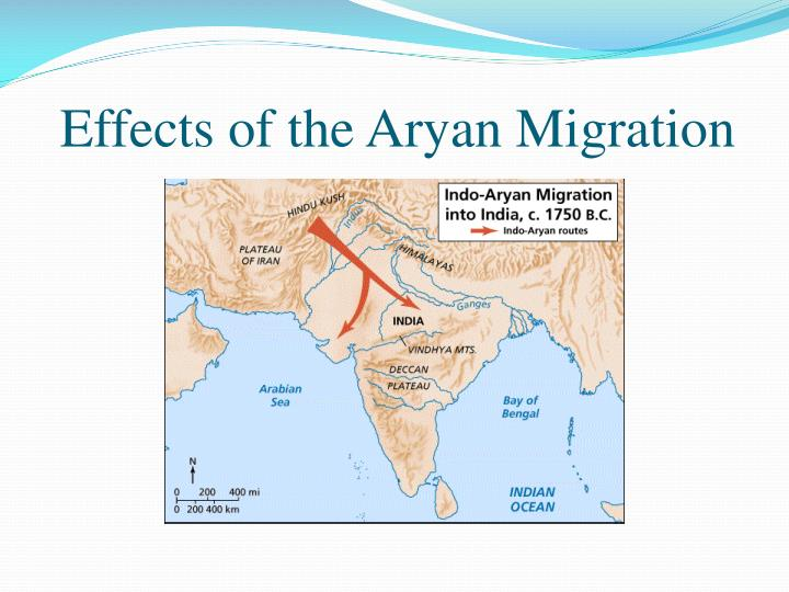 Effects of the aryan migration