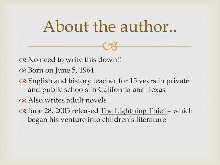 About the author..