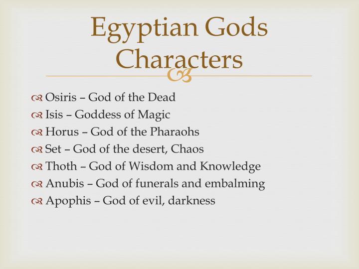 Egyptian Gods Characters