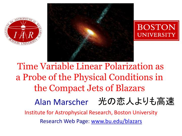 Time Variable Linear Polarization as a Probe of the Physical Conditions in the Compact Jets of Blazars