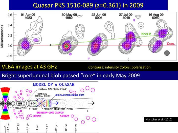 Quasar PKS 1510-089 (z=0.361) in 2009