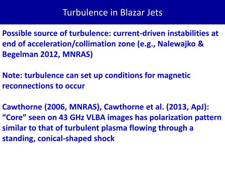 Turbulence in Blazar Jets