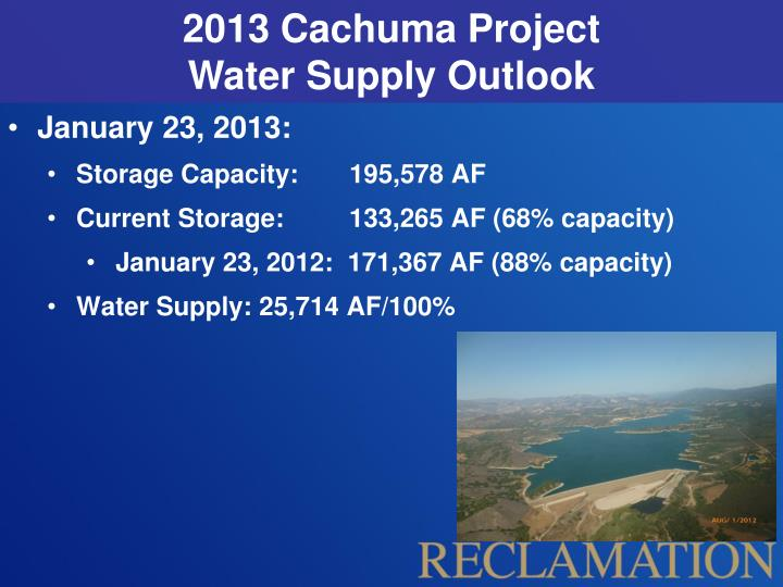 2013 Cachuma Project