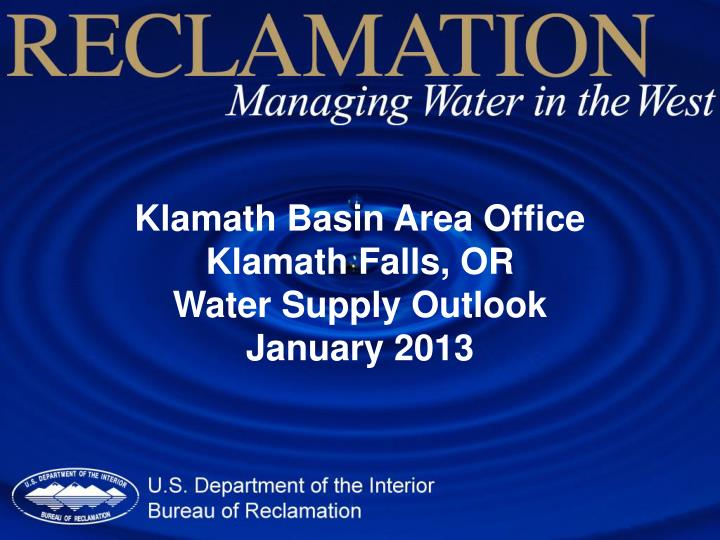 Klamath Basin Area Office