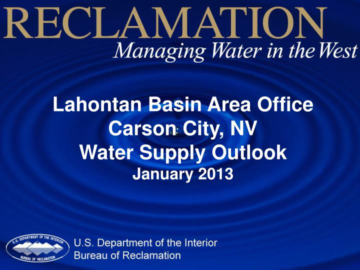 Lahontan Basin Area Office