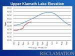 upper klamath lake elevation
