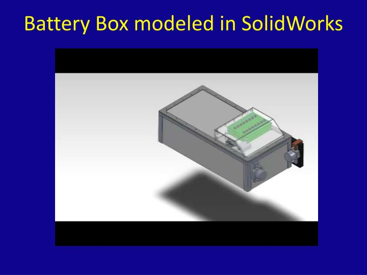 Battery Box modeled in