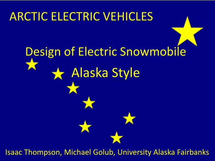 Design of electric snowmobile
