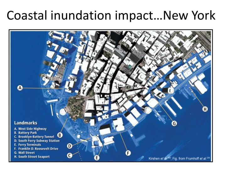Coastal inundation impact…New York