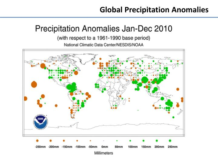 Global Precipitation Anomalies