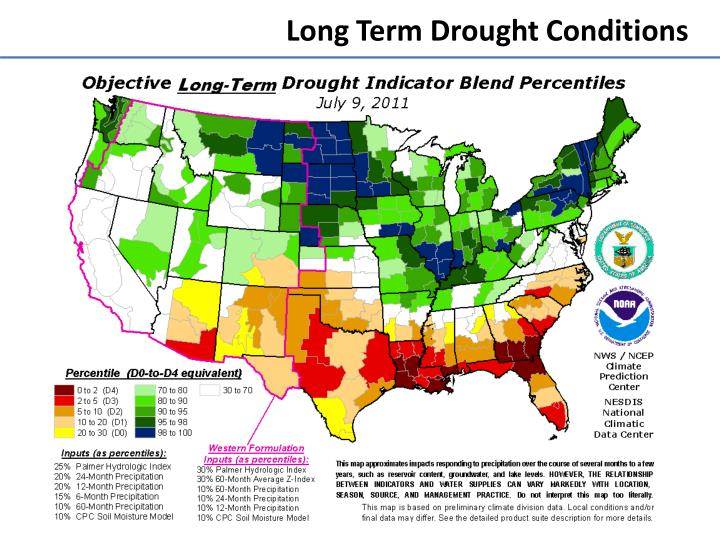 Long Term Drought Conditions
