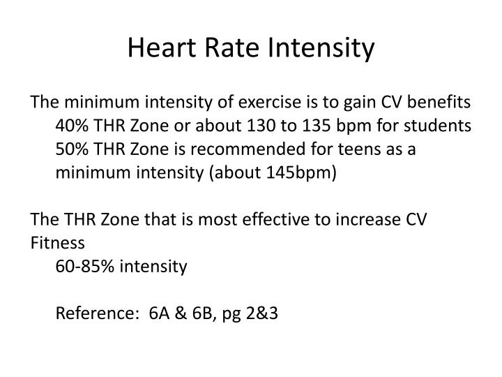 Heart Rate Intensity