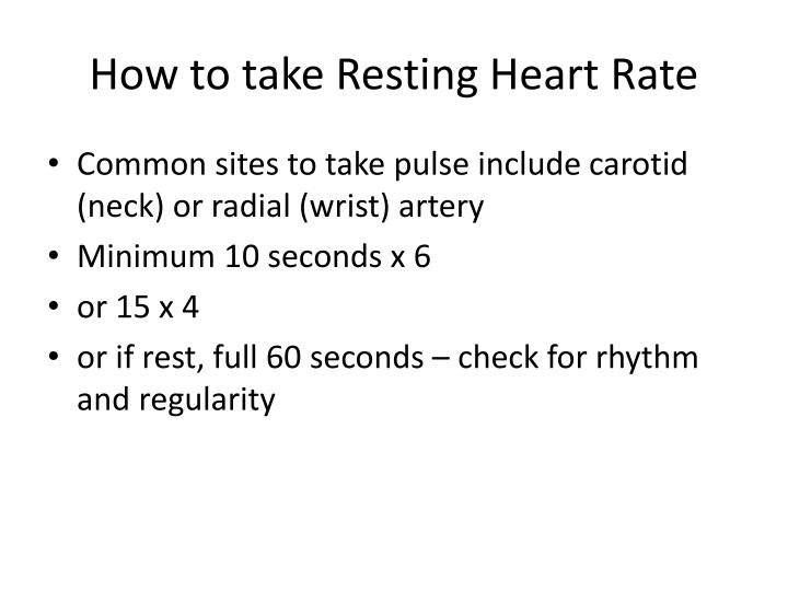 How to take Resting Heart Rate