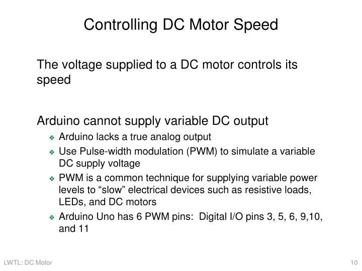 Controlling DC Motor Speed