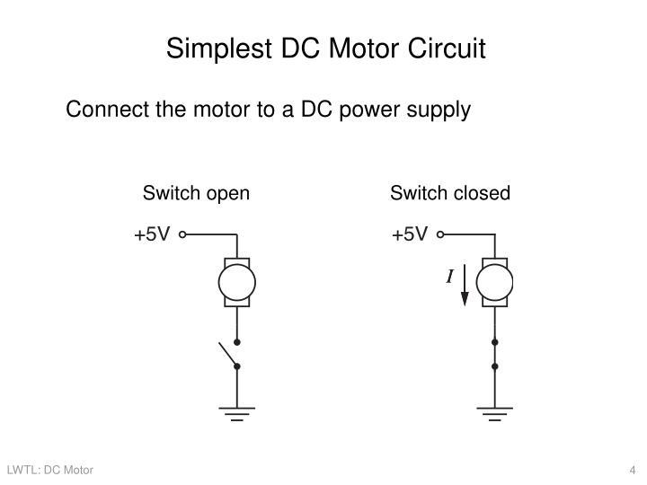 Simplest DC Motor Circuit