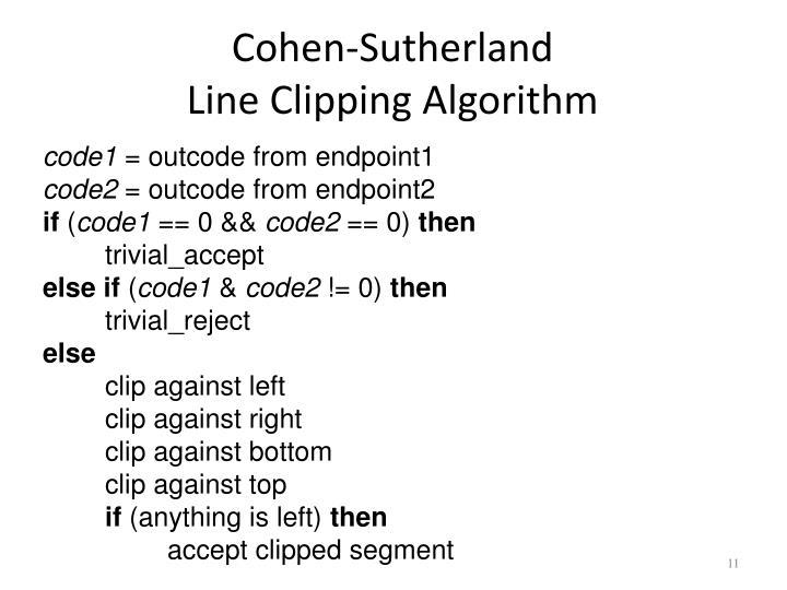 Cohen-Sutherland