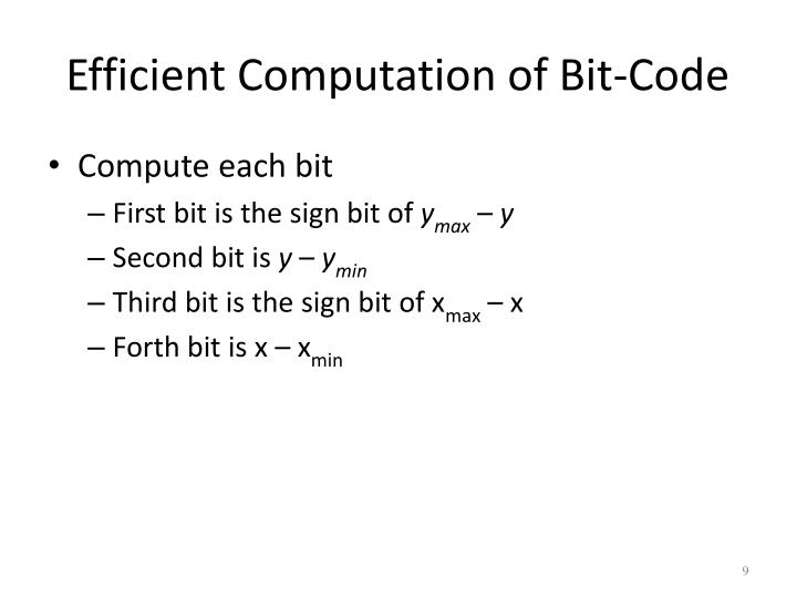 Efficient Computation of Bit-Code