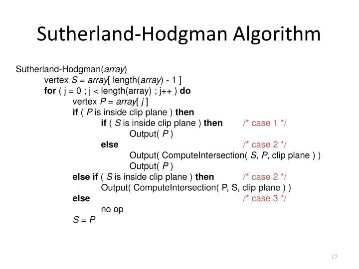 Sutherland-Hodgman Algorithm