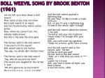 boll weevil song by brook benton 1961