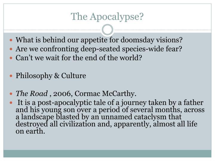 The Apocalypse?