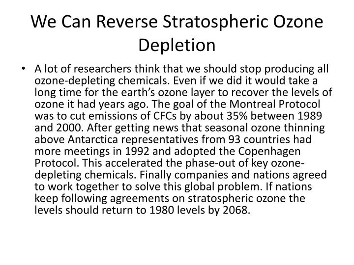 We Can Reverse Stratospheric Ozone Depletion