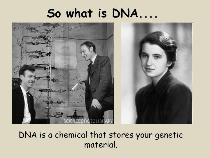 So what is DNA....