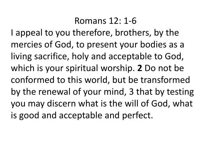 Romans 12: 1-6