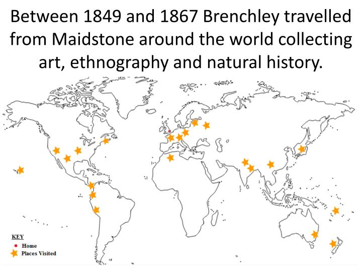 Between 1849 and 1867 Brenchley travelled from Maidstone around the world collecting art, ethnograph...