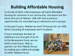 building affordable housing