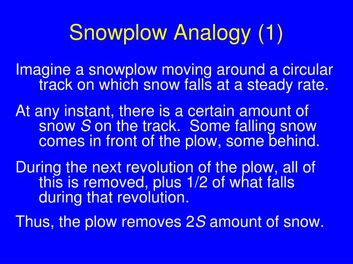 Snowplow Analogy (1)