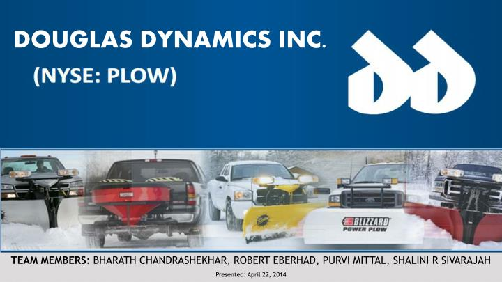 DOUGLAS DYNAMICS INC.
