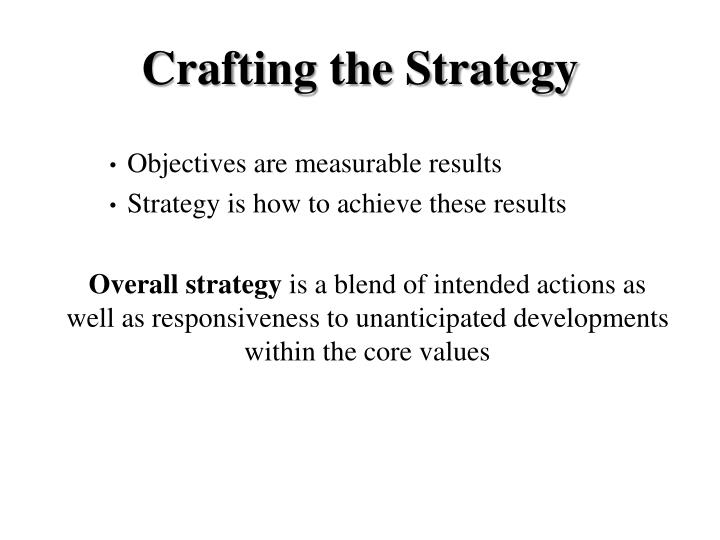 Crafting the Strategy