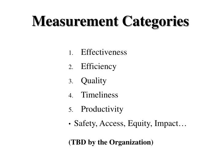Measurement Categories