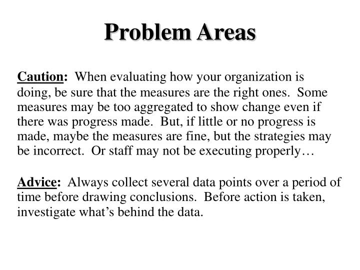 Problem Areas