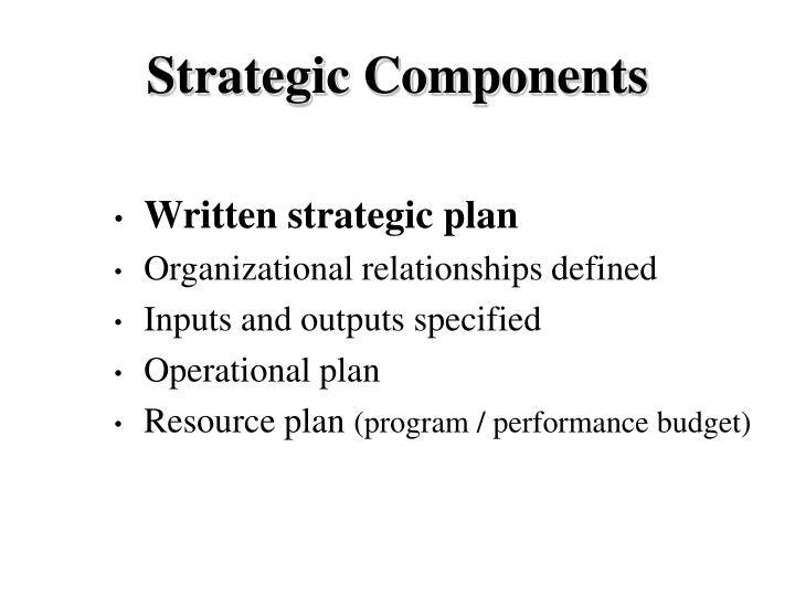 Strategic Components