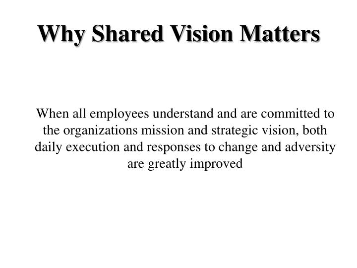Why Shared Vision Matters