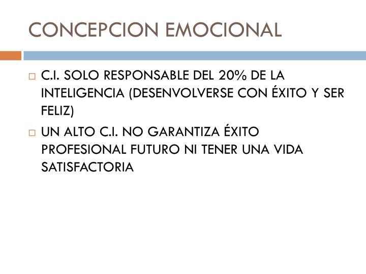 CONCEPCION EMOCIONAL