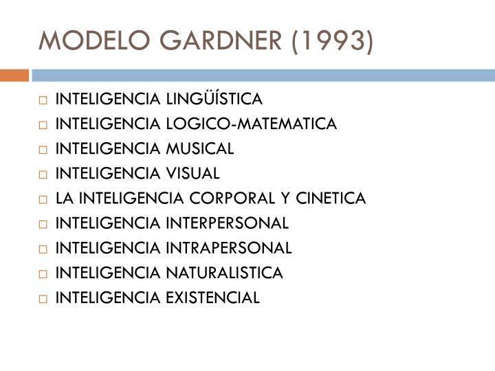 MODELO GARDNER (1993)